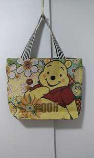 Brand New Big Pooh Tote in Woven Print