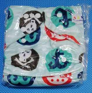 Alva cloth diaper - printed with microfiber insert
