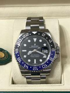 BNIB Apr 18 Rolex GMT-Master II 116710BLNR Batman