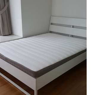 Ikea Queen Bed (Mattress and frame) 150cm x 200cm