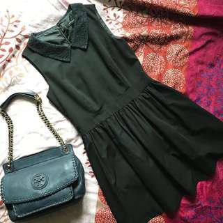 Collar Sleeveless Black Dress 有領黑色連身裙
