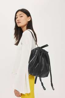 Brand new Topshop premium leather backpack
