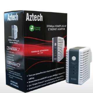 3 x Aztech 200Mbps Homeplug AV Ethernet Adapters