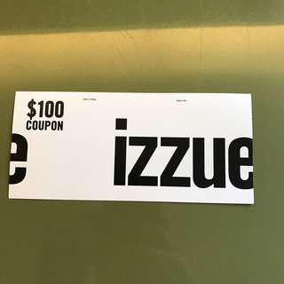izzue $100 coupon