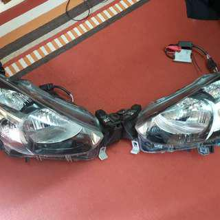 Mazda 2 halogen lamps