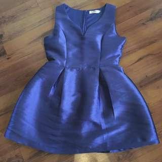 Blue Sleeveless Dress From Egete