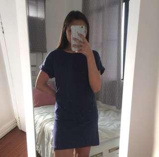 H&M Navy Blue Shirt Dress