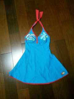 🚚 水藍連身泳裙