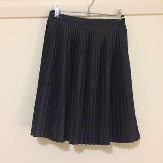 Tokito Myer grey silver sparkly metallic midi skirt XS 6