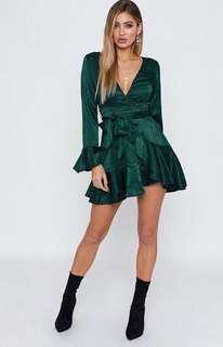 Wonderland Forest Green Dress