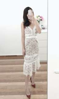 Quality White Lace Dress