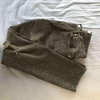 GAP men black distressed jeans slim fit