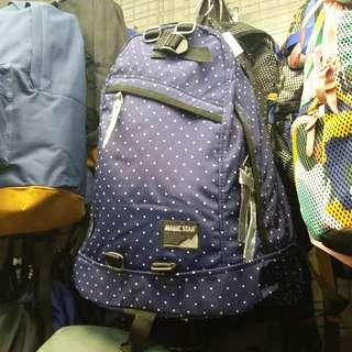 8646 滑料波點尼龍背囊 Backpack深藍色