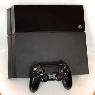 PS4 500GB with controller and 3 games