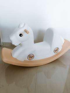 White Pony Rocking Horse (Made in Korea)