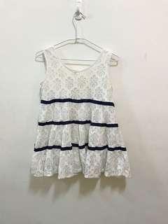 🚚 《台中》藍白條紋無袖背心洋裝
