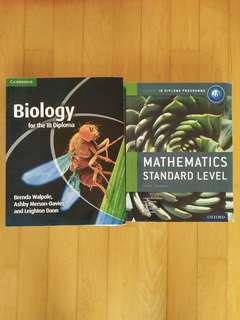 IB biology and SL mathematics
