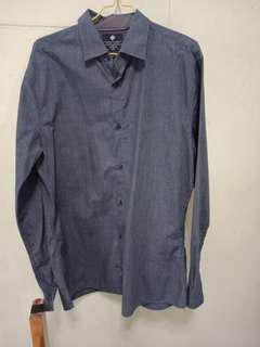 Cotton On Blue Overshirt / Buttoned shirt (slim fit)