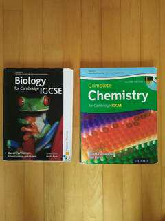 Biology and chemistry textbook for IGCSE