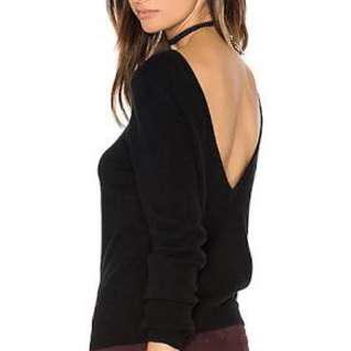 V cut out sweater