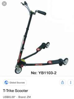 Used T-Trike scooter move ur hip to move