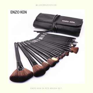 ENZOKEN 24 Pcs Makeup Brush Set (With Pouch)