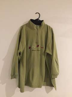 vintage green autumn hoodie jumper sweatshirt
