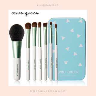 Cerro Qreen 7 Pcs Makeup Brush Set (With Metal Tin)
