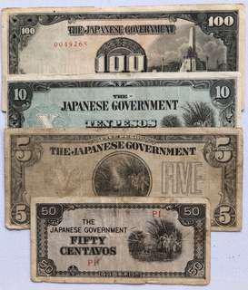 Lots JAPANESE INVASION BANKNOTES
