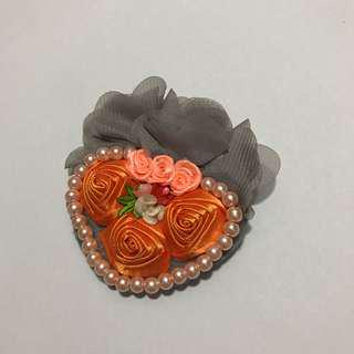 Brooch bead floral flower lace
