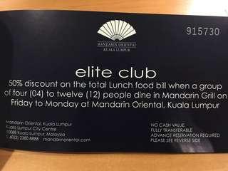 Mandarin Grill Group Voucher 50%