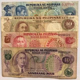 Lots ANG BAGONG LIPUNAN BANKNOTES