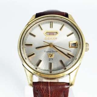 Vintage Citizen Crystal Seven AUtomatic Mens Watch 27J