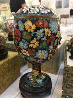 北京景泰藍·蛋形杯連托
