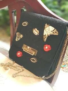 Bug Black Sling Bag