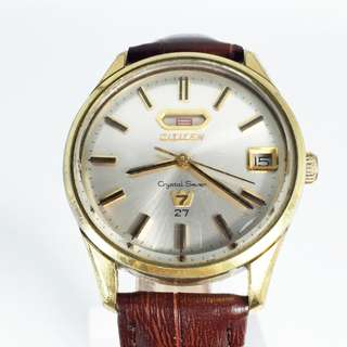 Vintage Citizen Crystal Seven Automatic Mens Watch