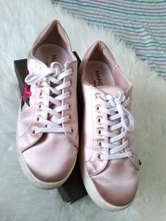 Mango Embroidery Nude Pink Sneakers Authentic
