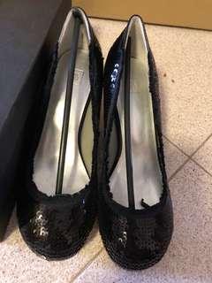 Pazzion sequins black heels