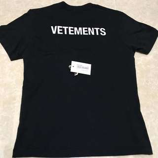 "Vetements basic staff tee black size S t-shirt ""Not Nike Adidas Supreme Champion Gucci LV Balenciaga Huf Vans"""