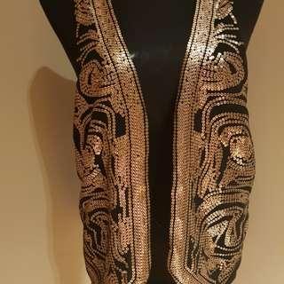 H&M Gold Sequined Vest