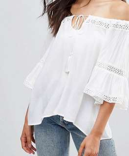 QED London Ladded Trim Textured Top