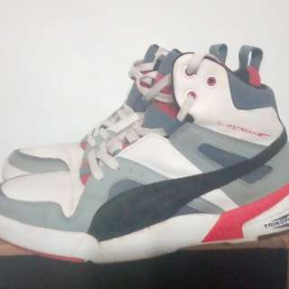 PUMA蜂巢氣墊籃球鞋,US9號,500元。