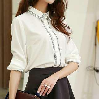 Chiffon white blouse #MRTCCK