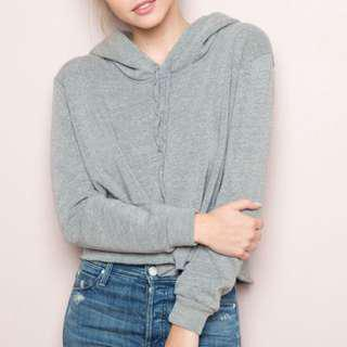 BNWOT brandy melville heather grey lennon hoodie