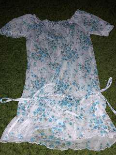 Floral translucent blouse