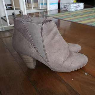 Payless Taupe Suede boots
