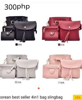 Korean Sling Bag 4in1