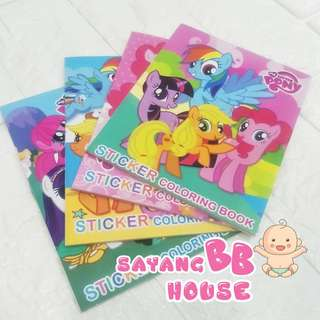 My Little Pony  Peppa pig Colouring Book with sticker Birthday Party Gift