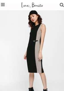 Love Bonito Darisionne contrast side buckle dress