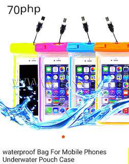 Waterproof bag for mobile phones